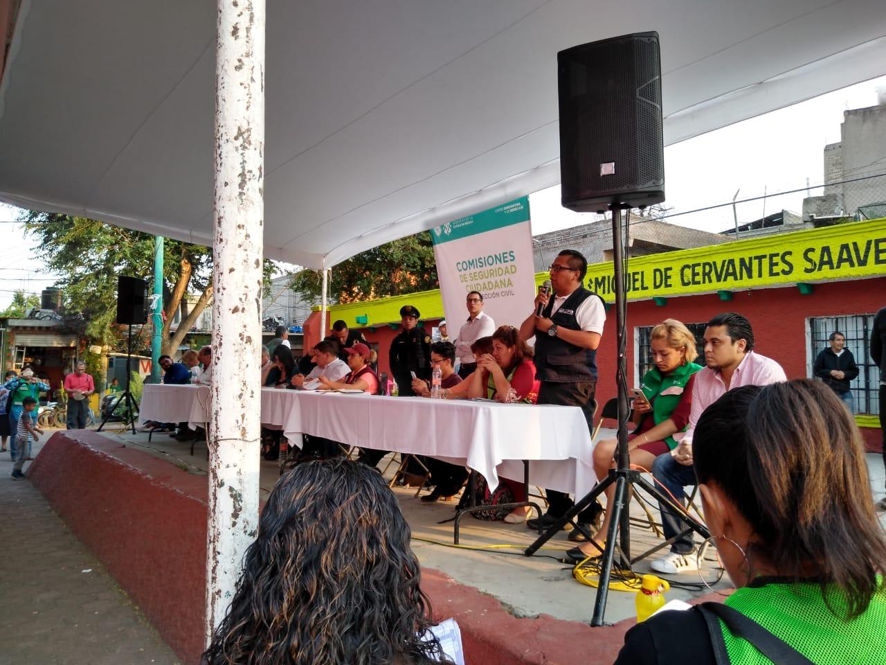 Asisten Policías de la SSC a reunión de Participación Ciudadana en Tláhuac