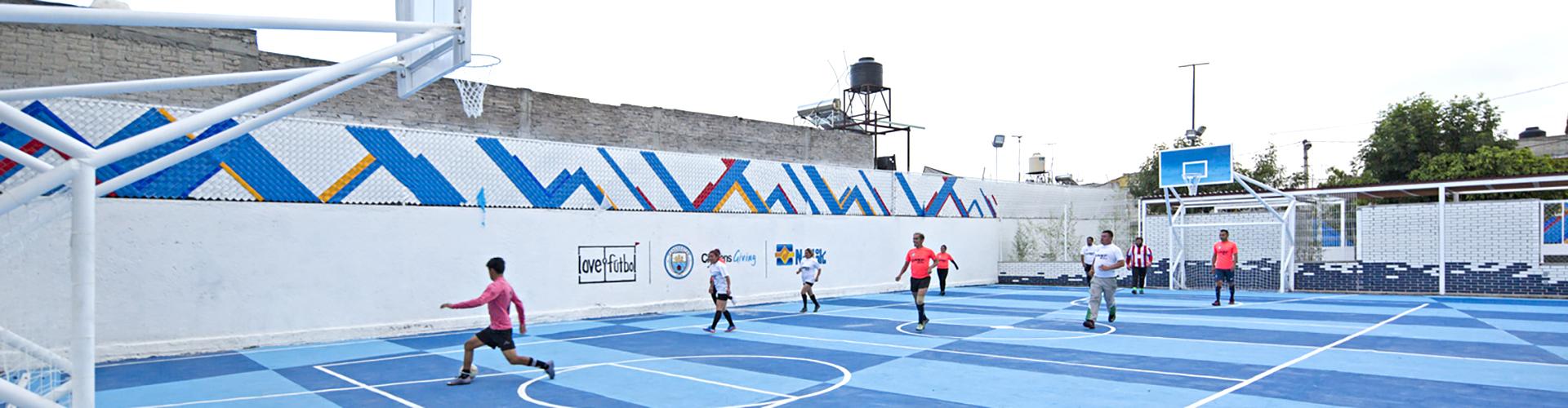 Rescatan espacio deportivo en Valle de Chalco