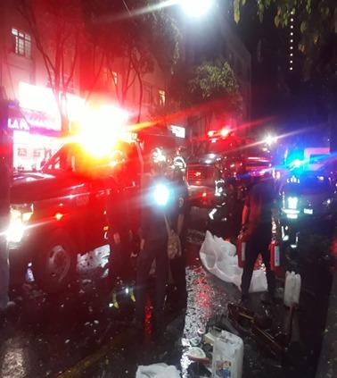 Policías de la SSC coadyuvaron en labores de rescate tras explosión de un tanque de gas