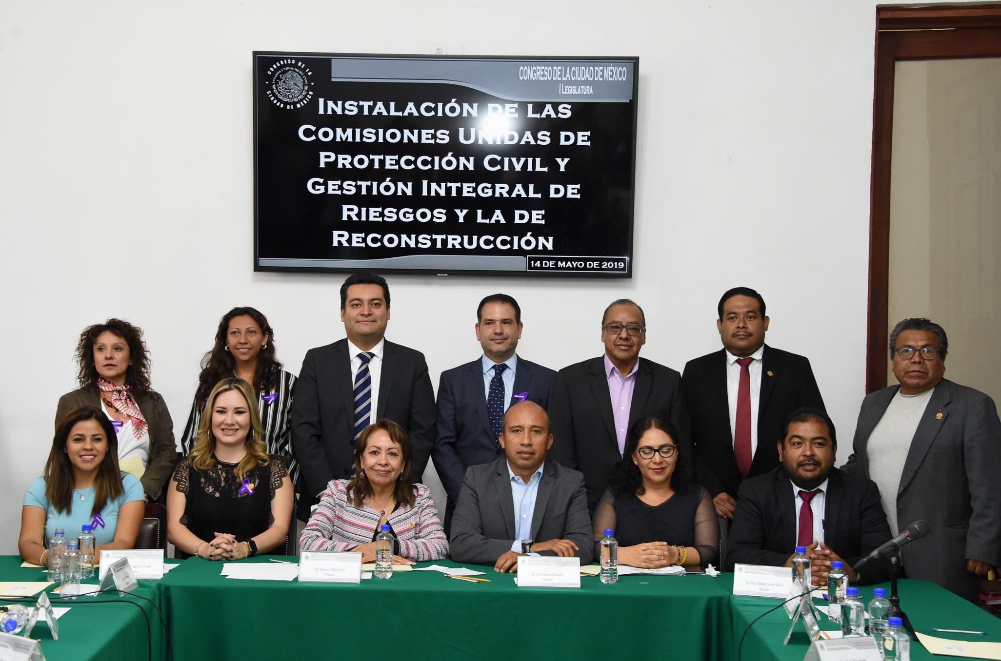 Se instalan en comisiones unidas del Congreso local para dictaminar la Ley de Gestión Integral de Riesgos y Protección Civil