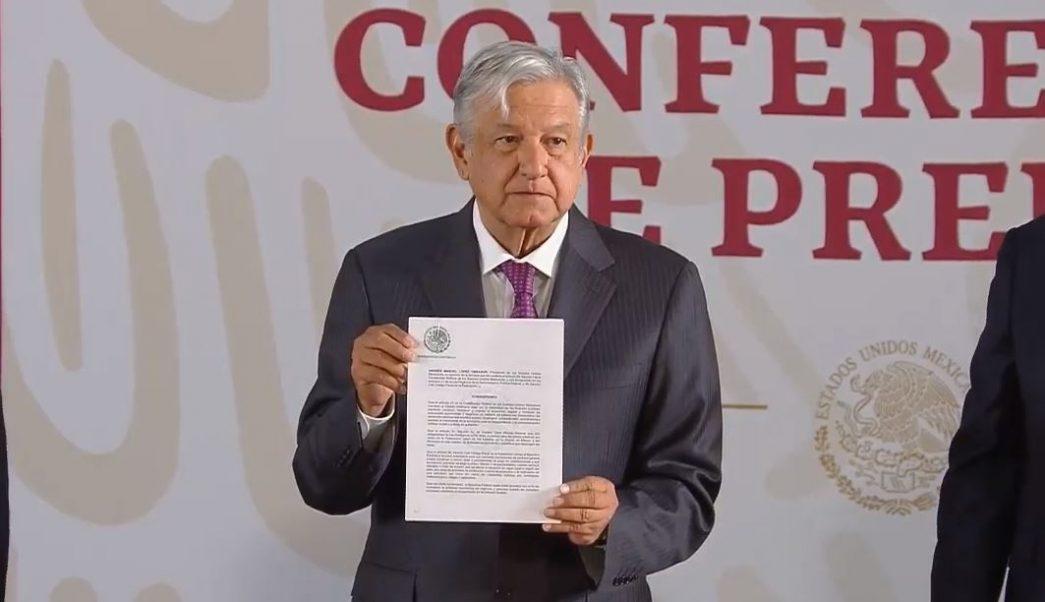 Firma López Obrador decreto para eliminar la condonación de impuestos