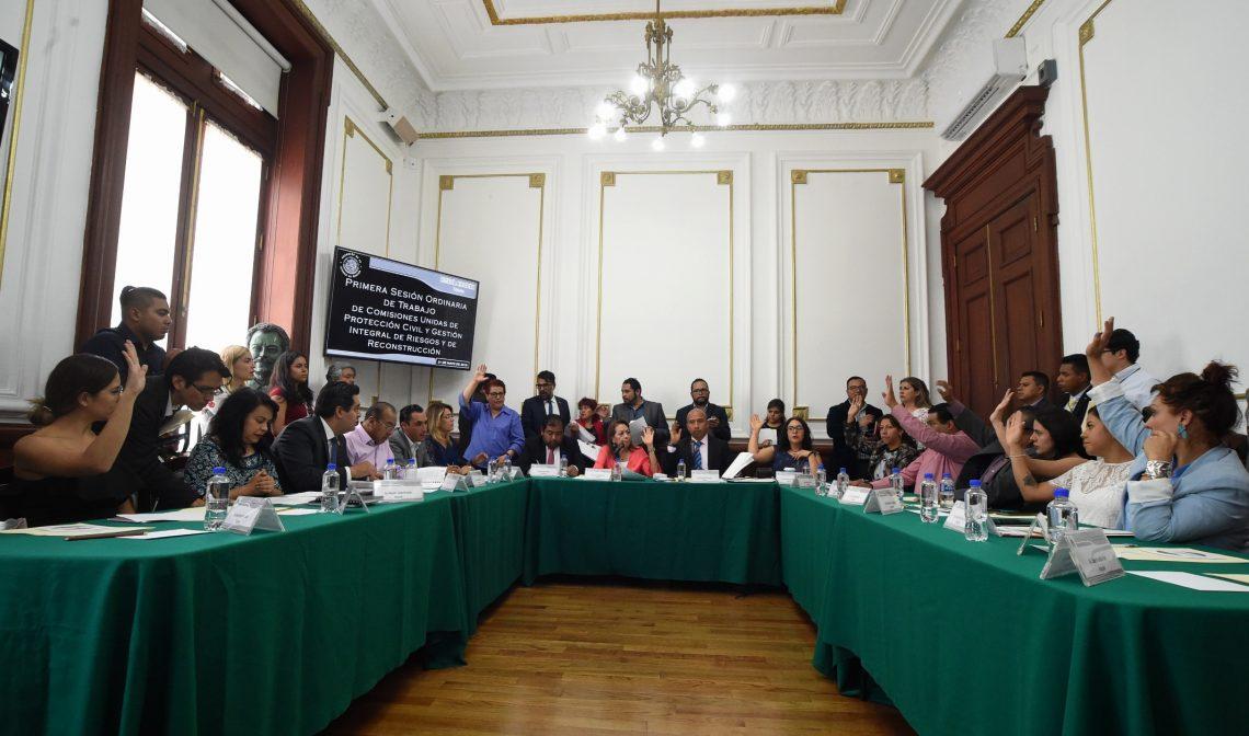 Aprueban en comisiones legislativas dictamen de Ley de Gestión Integral de Riesgos y Protección Civil