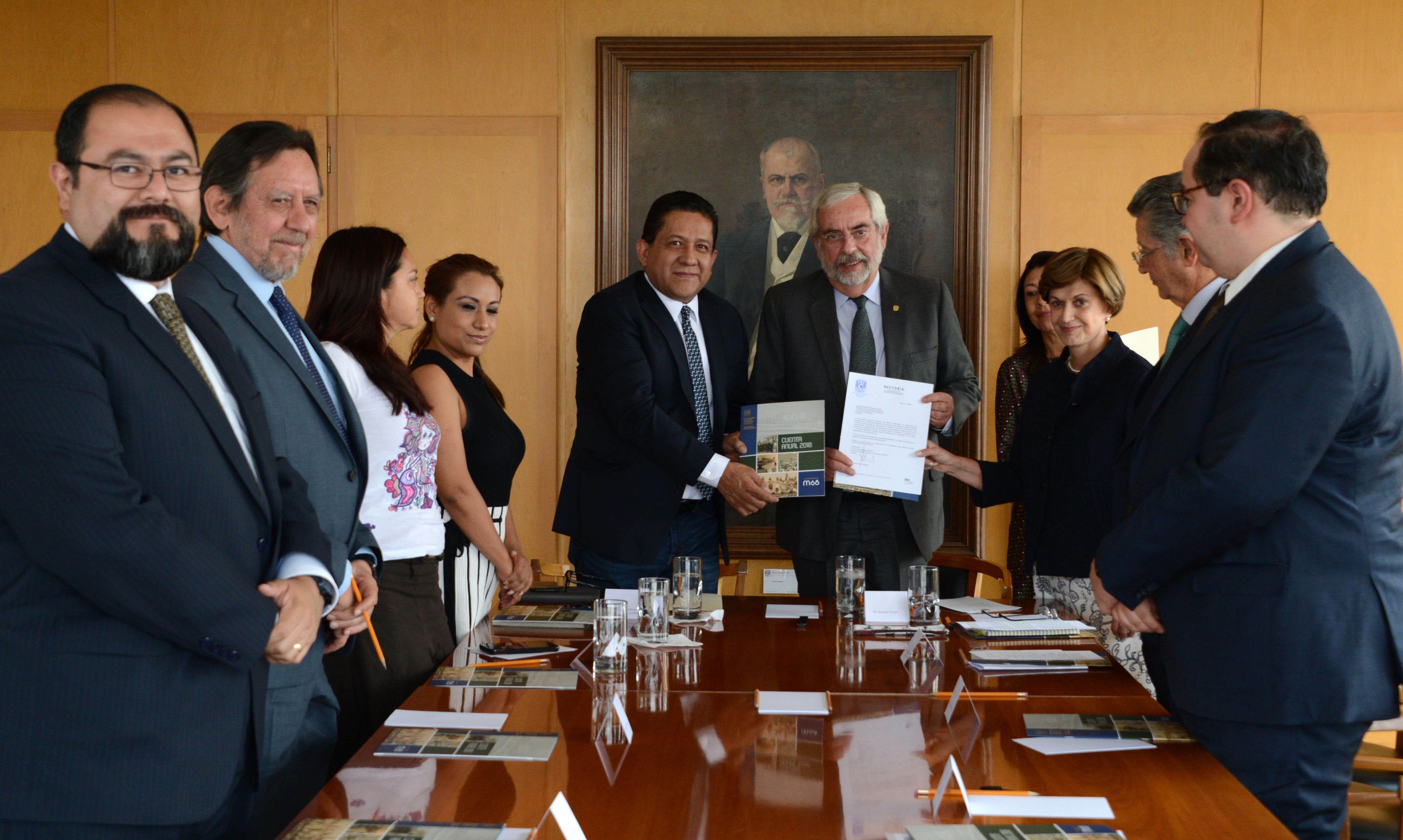 Entrega la UNAM sus estados financieros a la Cámara de Diputados