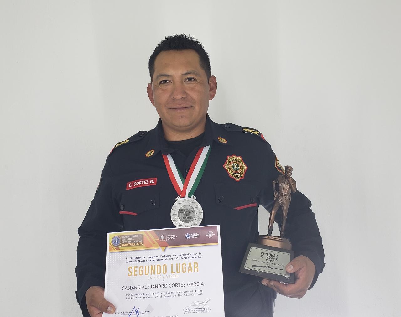 Elemento de la PBI de la SSC gana Segundo Lugar en el Campeonato Nacional de Tiro Policial