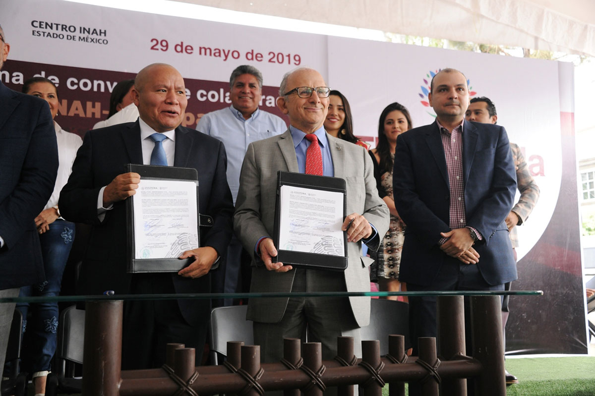 INAH firma convenio en favor del patrimonio cultural de Tlalnepantla