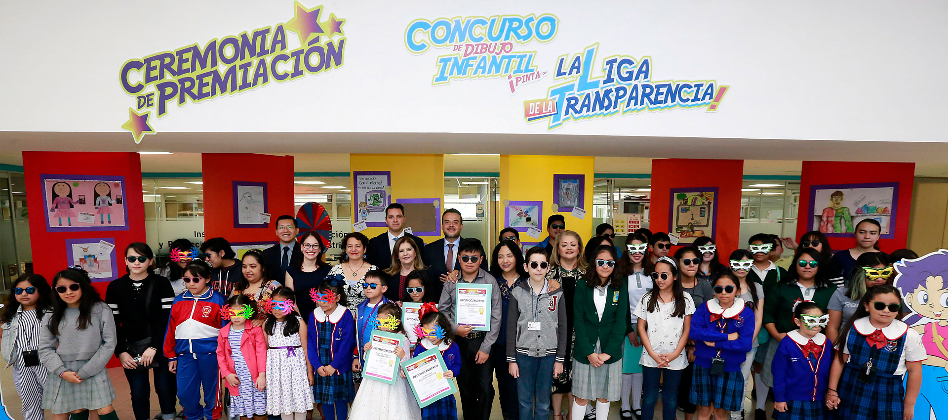 INFO premia a los ganadores del Primer Concurso de Dibujo Infantil Pinta con la Liga de la Transparencia