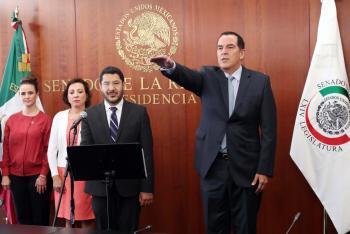 Rinde protesta el suplente de Ricardo Ahued