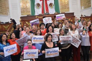 El Congreso CDMX aprueba la reforma a la Constitución Política federal en materia de paridad de género