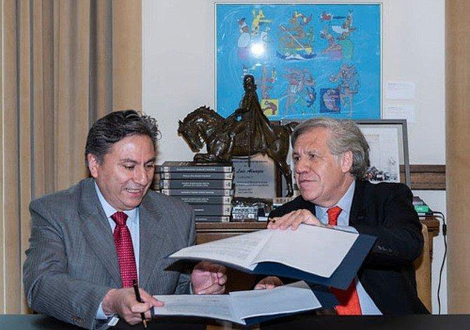 Firman IECM y OEA convenio de colaboración para impulsar la transparencia electoral
