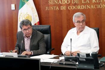 Informa Monreal que hasta este momento el Senado no tiene planes para suspender el proceso de ratificación del TMEC