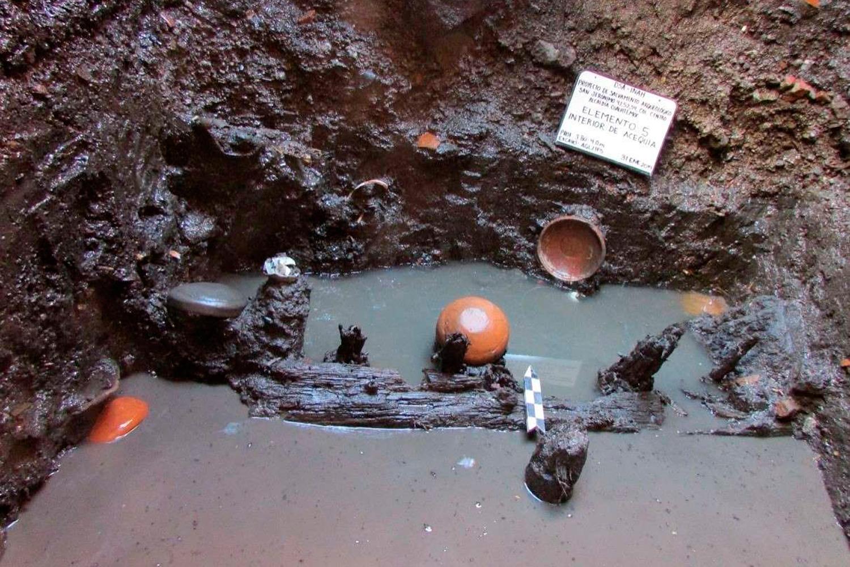 Detectan vestigios de la acequia de La Merced mediante salvamentos arqueológicos