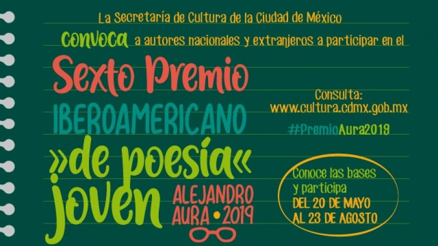 Sexto Premio de Poesía Joven Alejandro Aura 2019