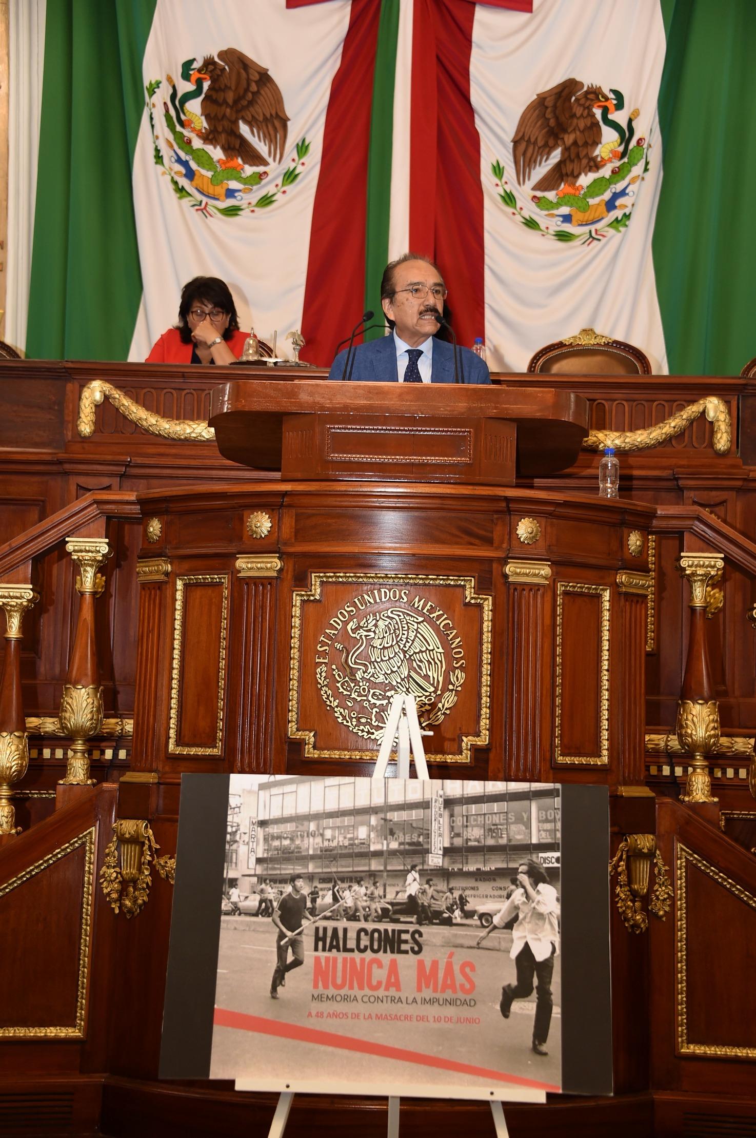 El Congreso de la CDMX honra a las víctimas del Halconazo