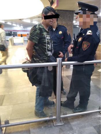 En Acciones diferentes Policías de la PBI de la SSC detienen a dos Hombres por presunto Abuso Sexual al interior del Metro