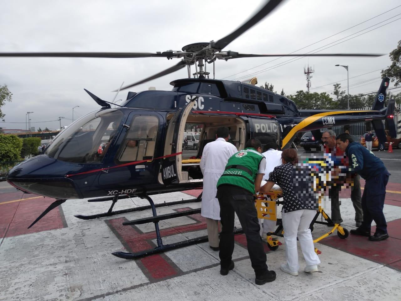 Cóndores de la SSC brindan Ambulancia Aérea para traslado de un menor con complicaciones respiratorias y cerebrales