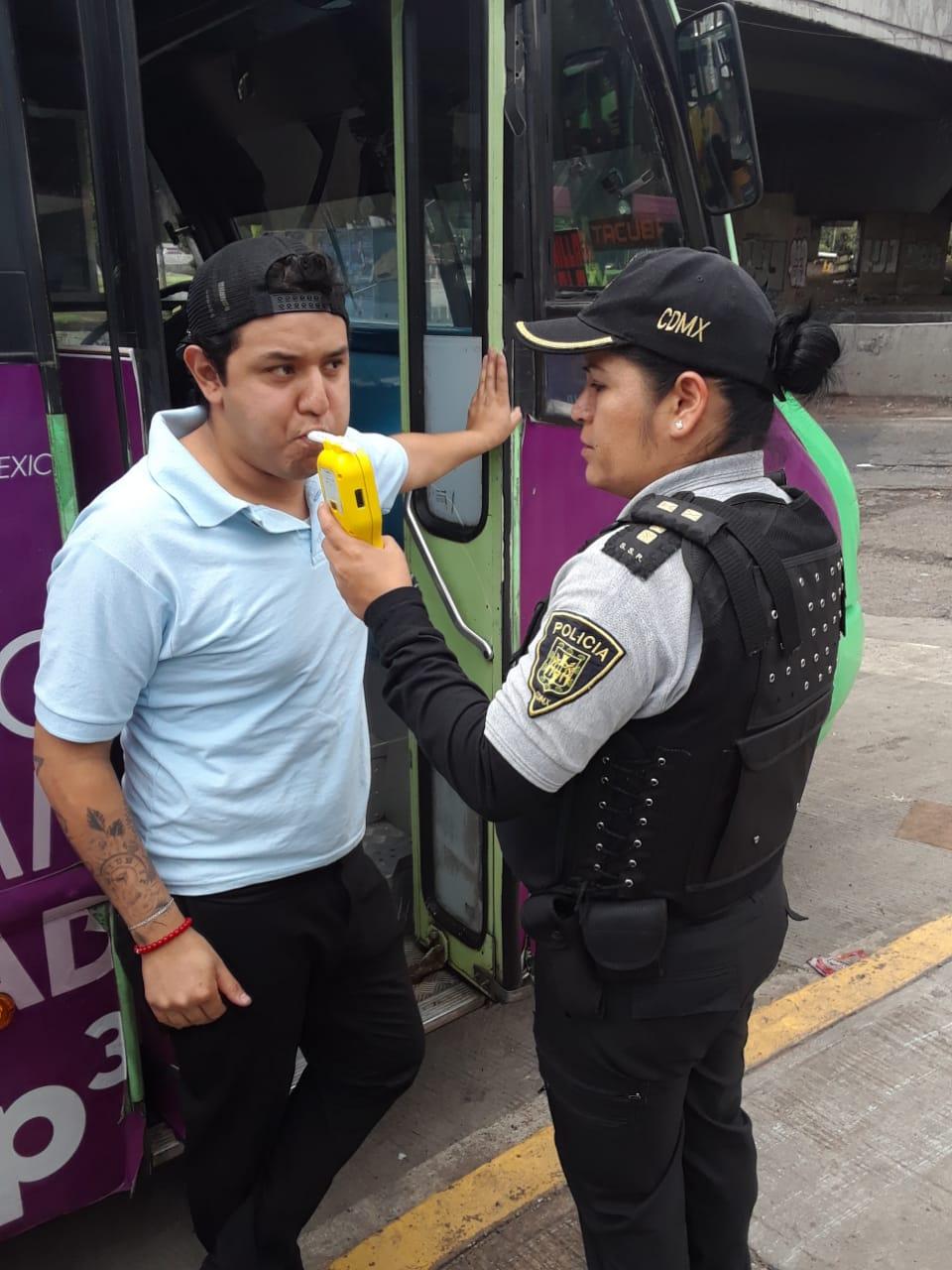 SSC realiza pruebas de Alcoholemia a conductores del Transporte Público en diferentes Rutas de la Ciudad