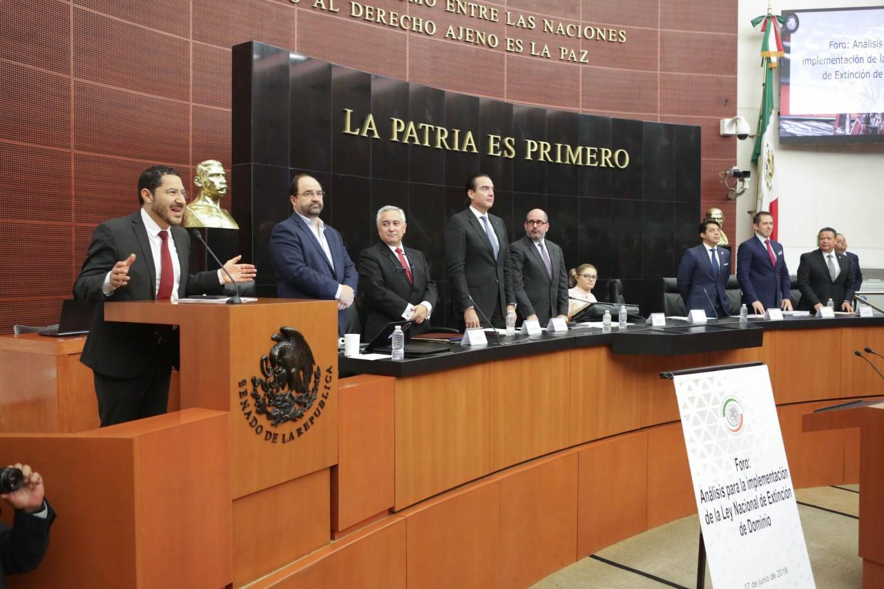 Recaban propuestas para expedir la Ley Nacional de Extinción de Dominio