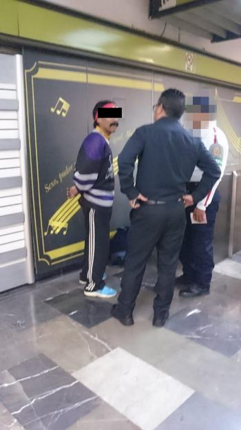 Policía de la PBI de la SSC detiene a un hombre por presunto abuso sexual en la estación División del Norte