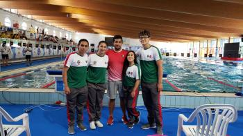 Debuta Alejandro Alvarado con plata y récord en Serie Mundial de Para Natación