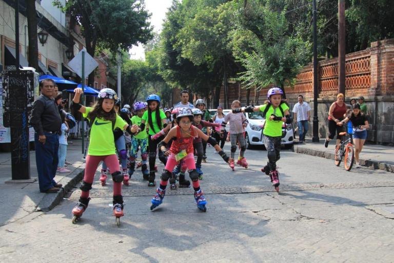 Tlalpan fue sede de la Primer Ruta Ecoturística en patines