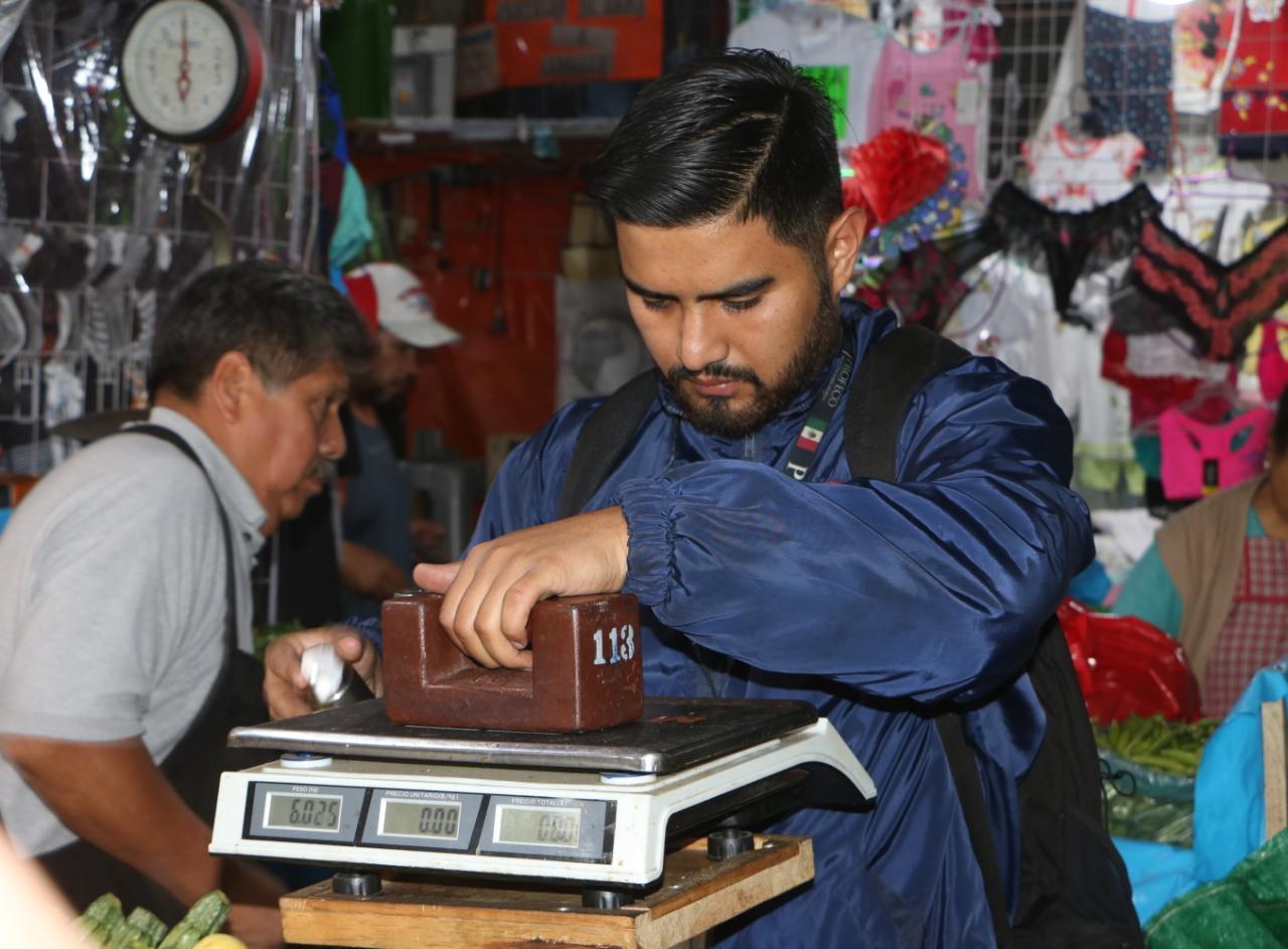 Revisan Básculas en Mercados de Xochimilco