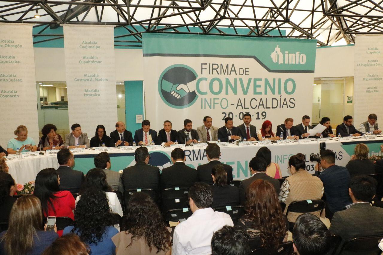 Firma Convenio de colaboración Alcaldía Milpa Alta y el INFO CDMX