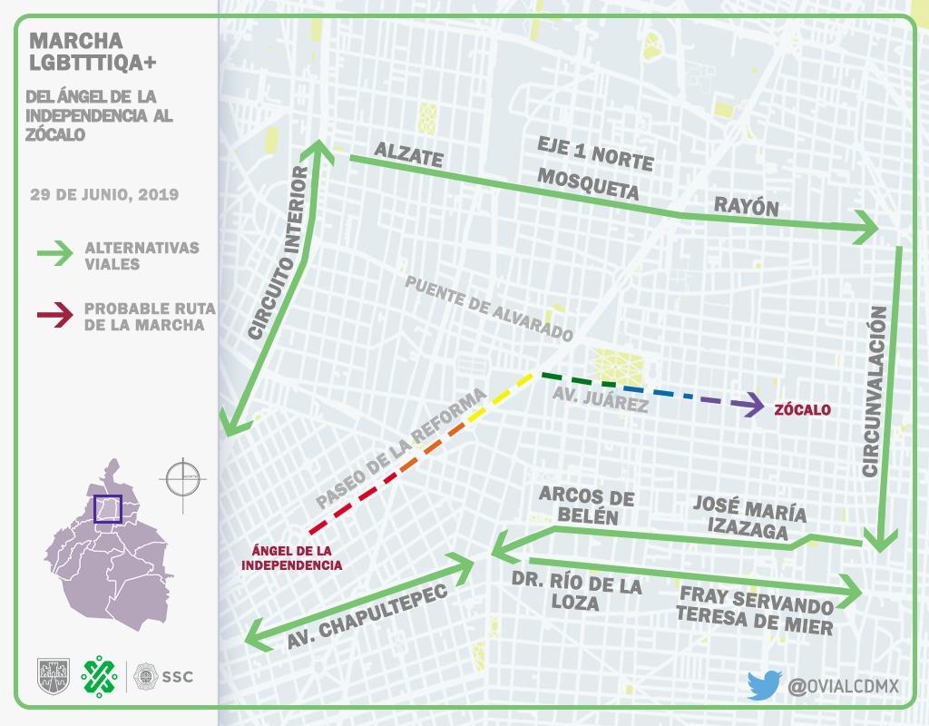 Anuncia SSC Dispositivo de Seguridad y Vialidad para la 41 Marcha del Orgullo Gay 2019 en la CDMX