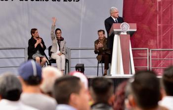Asiste Jefa de Gobierno a informe de actividades del Presidente de México en el Zócalo