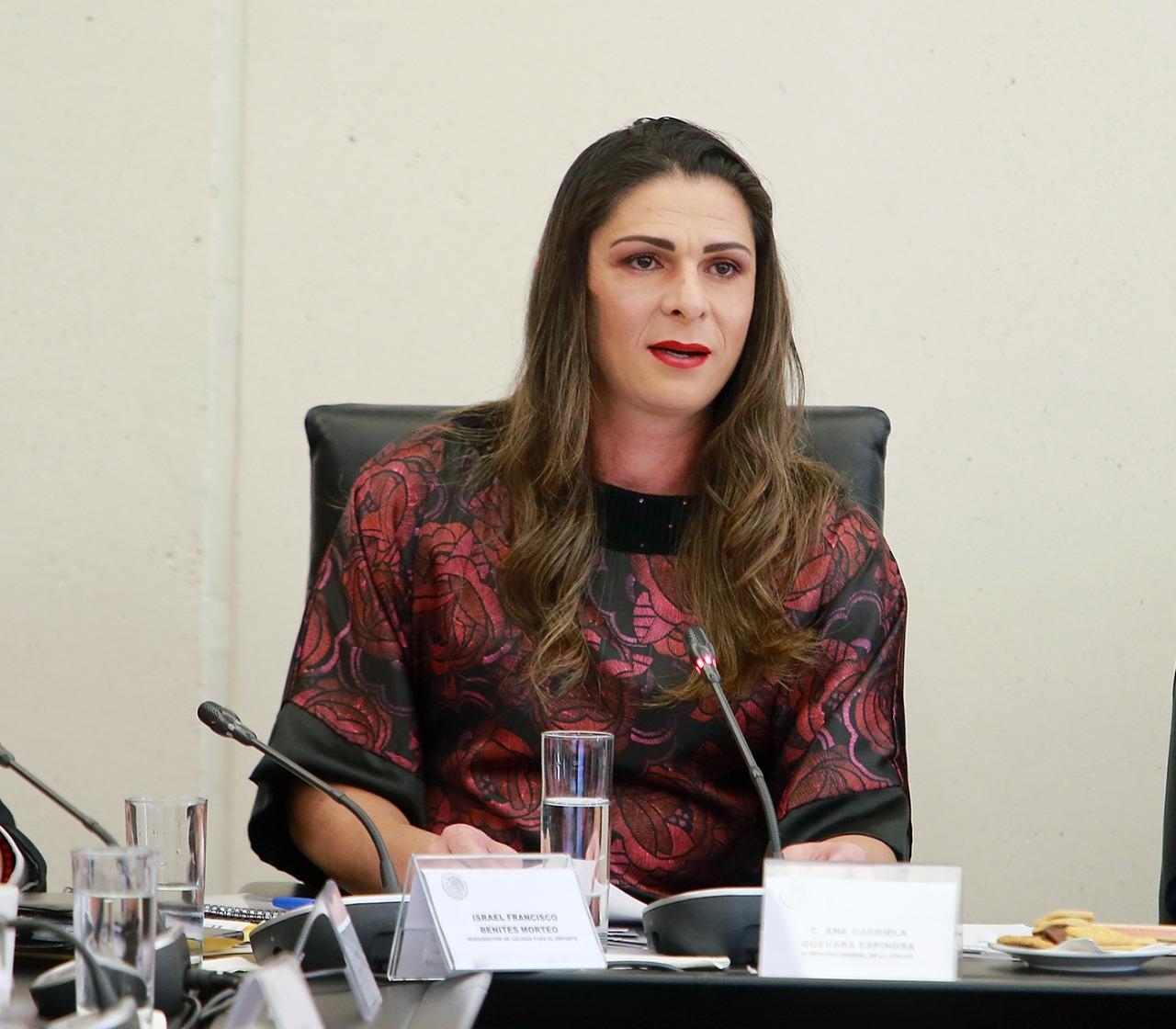 Se reúne Ana Gabriela Guevara con la Comisión de Juventud y Deporte del Senado de la República