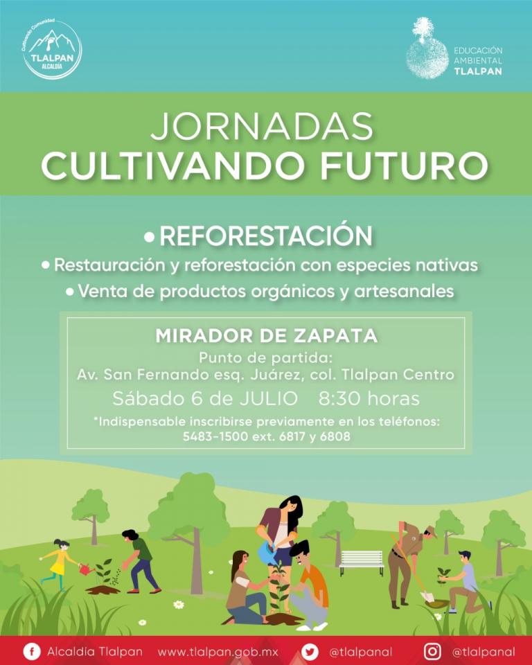 Tlalpan iniciará las Jornadas de Reforestación Cultivando Futuro