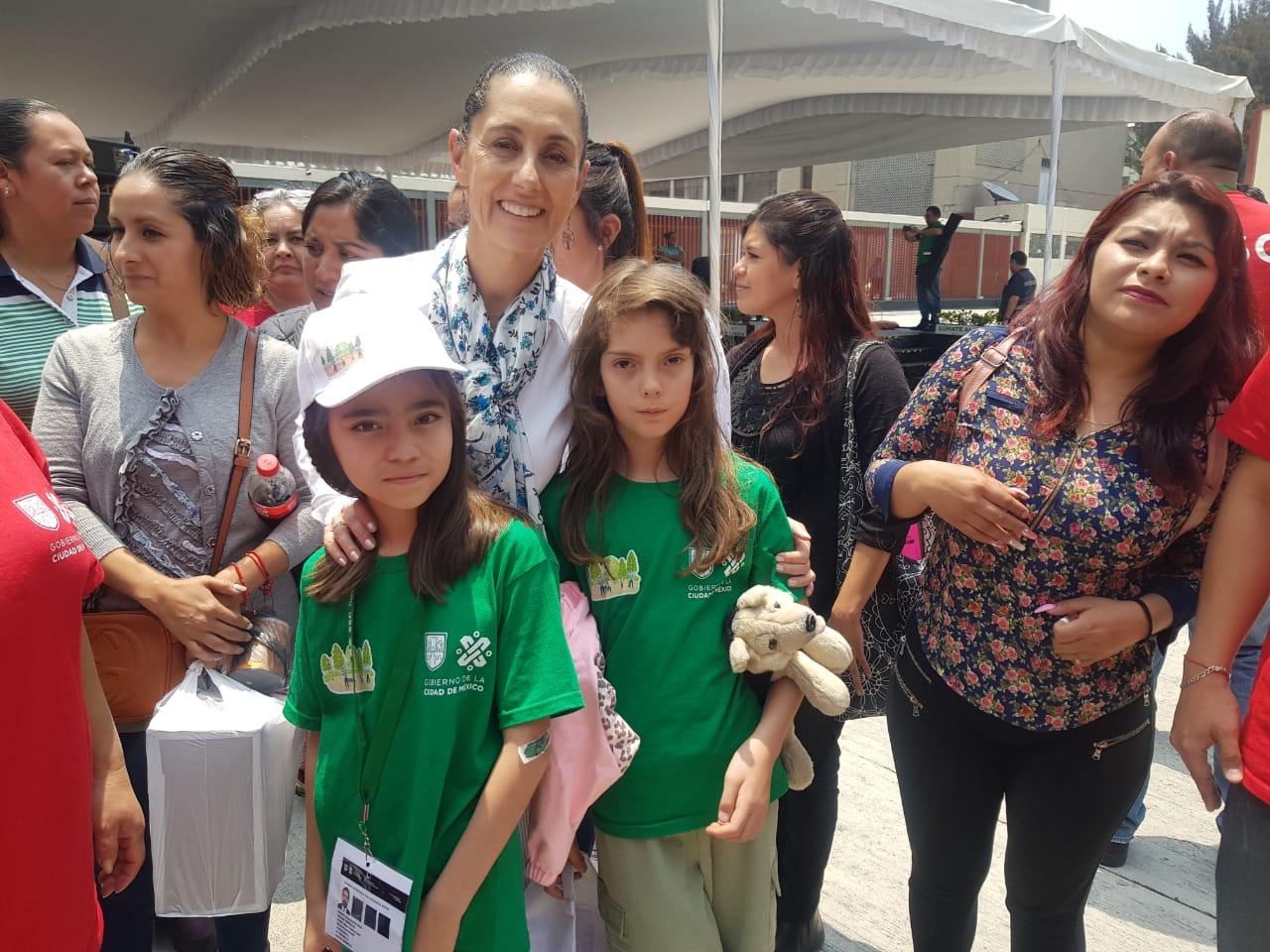 Acompañan Hijos e Hijas de Policías que participan en el Curso de Verano 2019 en evento de la Jefa de Gobierno Claudia Sheinbaum