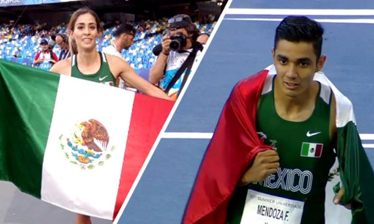 Conquistan Paola Morán y Valente Mendoza los 400 metros planos en la Universiada Mundial