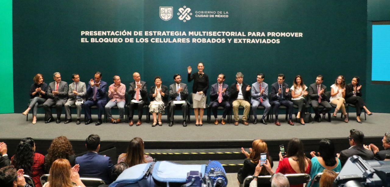 Presenta gobierno capitalino estrategia multisectorial para bloquear celulares robados y extraviados