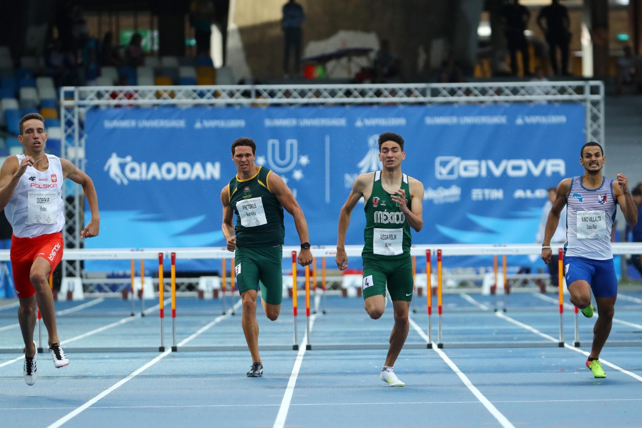 Rompe Arodi Vega récord mexicano en la Universiada Mundial 2019