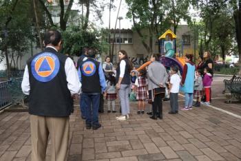 Brinda capacitación Protección Civil de Cuauhtémoc en centros escolares