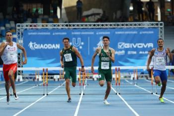 Rompe Arodi Vega récord mexicano en la Universiada Mundial 2019