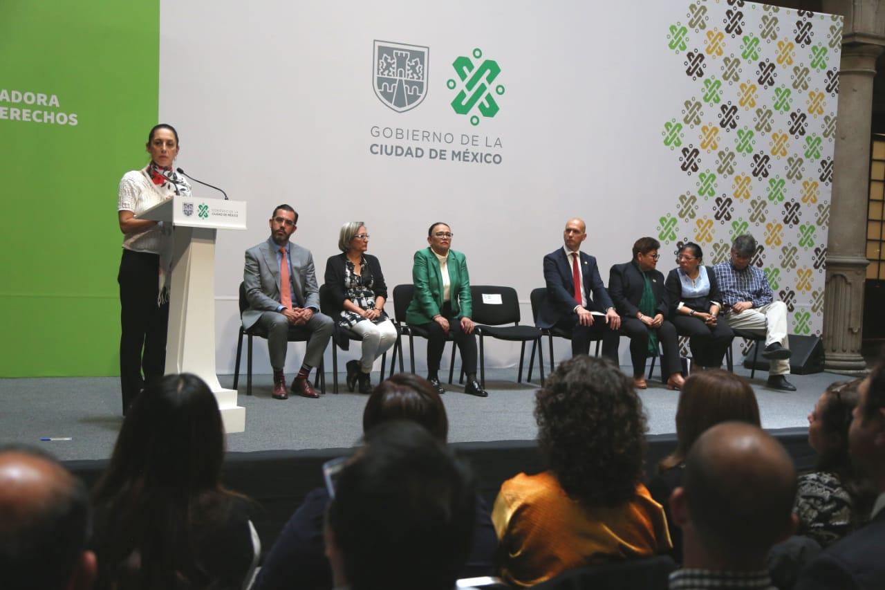 Presiden Jefa de Gobierno y Titular de la SSC las comisiones Ciudadanas contra la violencia a Mujeres Policías y contra la corrupción Policial