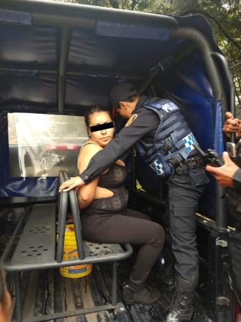 SSC detiene a una Mujer implicada en disparos con arma de fuego en Plaza Art