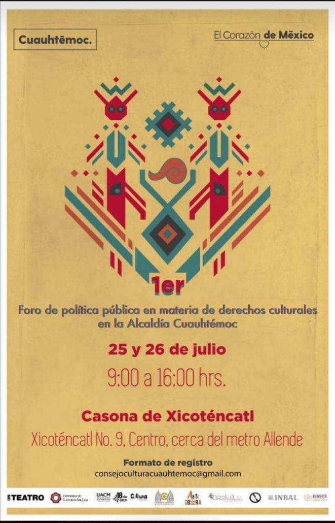 Foro de Política Pública en materia de Derechos Culturales en la Alcaldía Cuauhtémoc