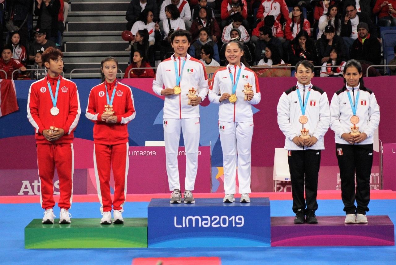 Oro para Zulema Ibáñez y Leonardo Juárez en taekwondo poomsae de Lima 2019
