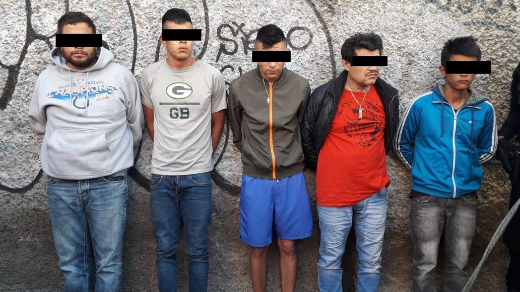 SSC captura en persecución a cinco implicados en agresiones a tiros contra cuatro personas por posesión de droga y armas de fuego