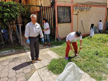 Jornada de Limpieza en la UH Ticomán en la Colonia San Andrés