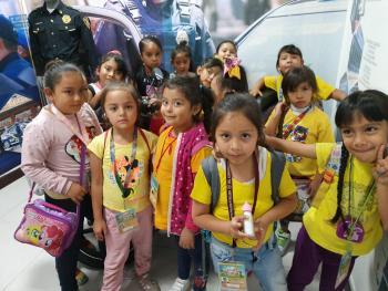 Niños de curso de verano de la Alcaldía Venustiano Carranza visitan el Museo de Policía de la SSC