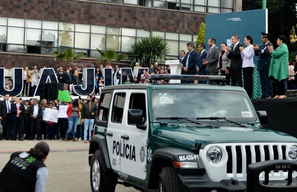 Refuerza Gobierno de la CDMX Patrullaje en Cuajimalpa con 21 Vehículos Nuevos
