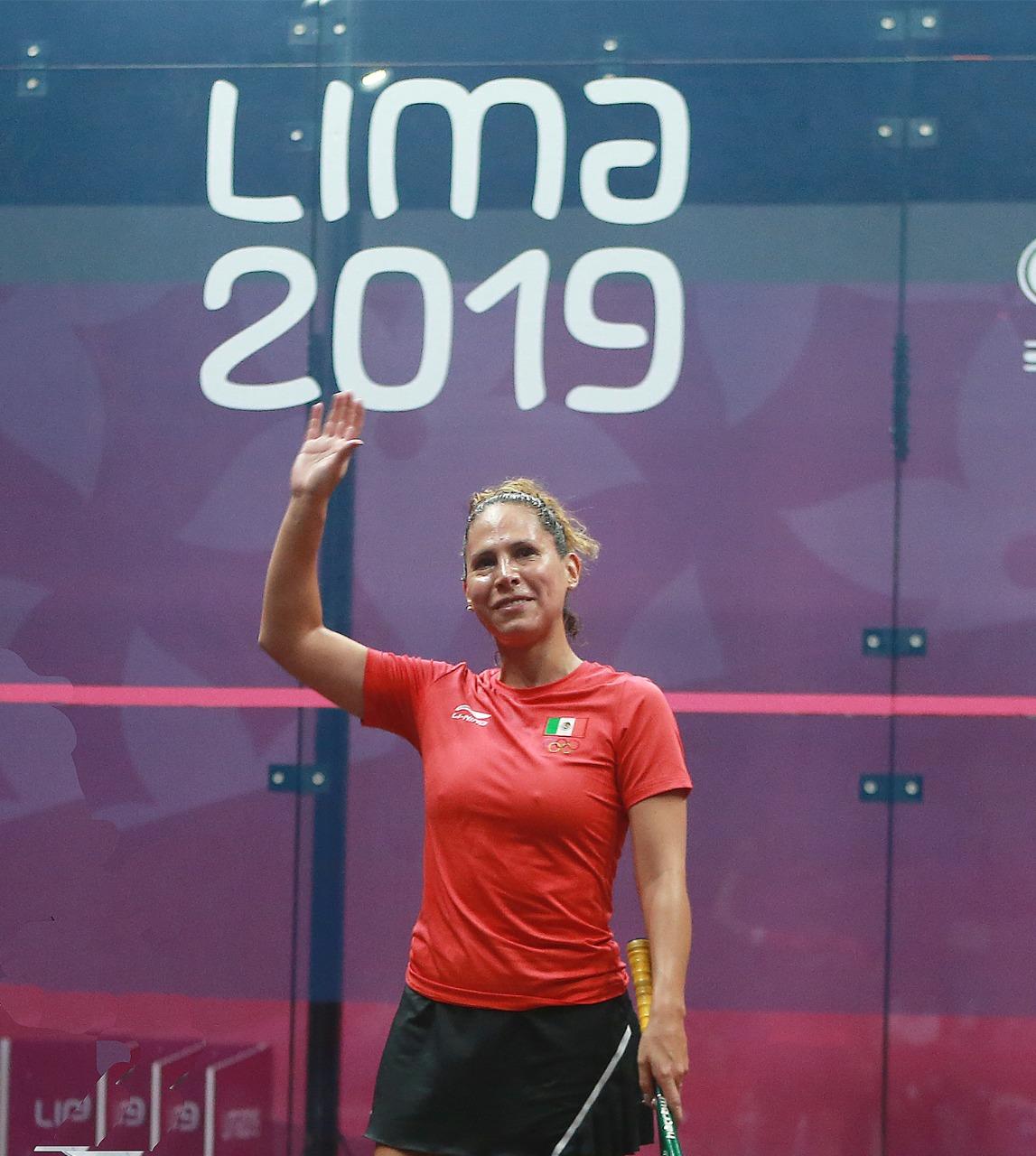 Se despide Samantha Terán del squash con medalla de bronce en Lima 2019