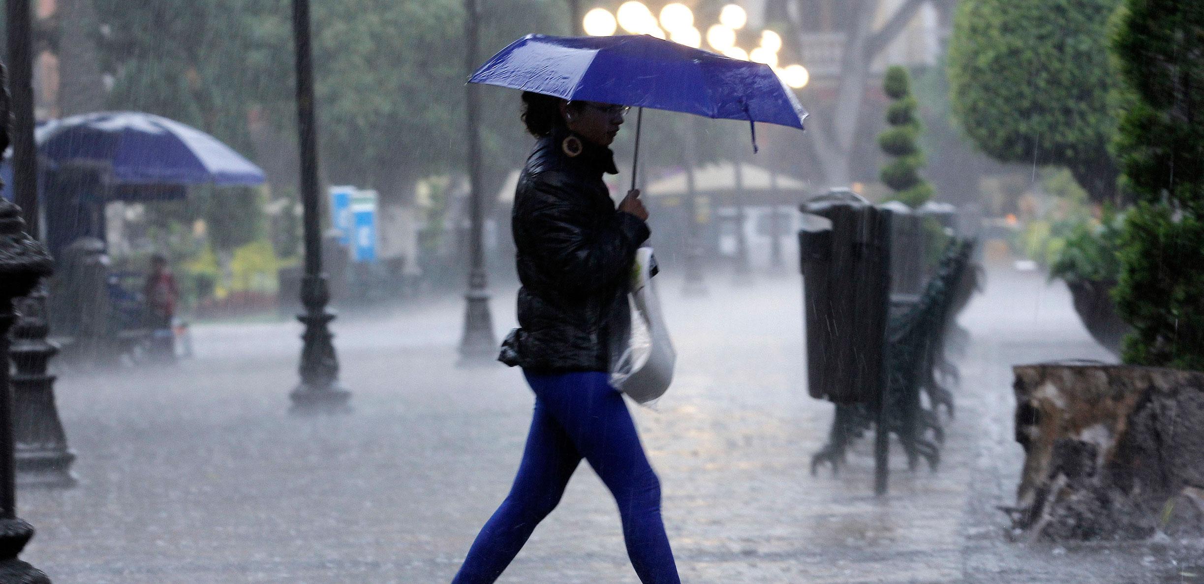 Se prevén lluvias fuertes al Poniente de la Capital durante la noche