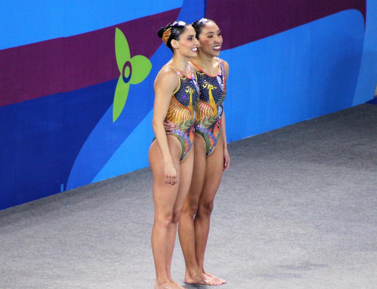 Dueto de natación artística logra plata y plaza olímpica en Lima 2019
