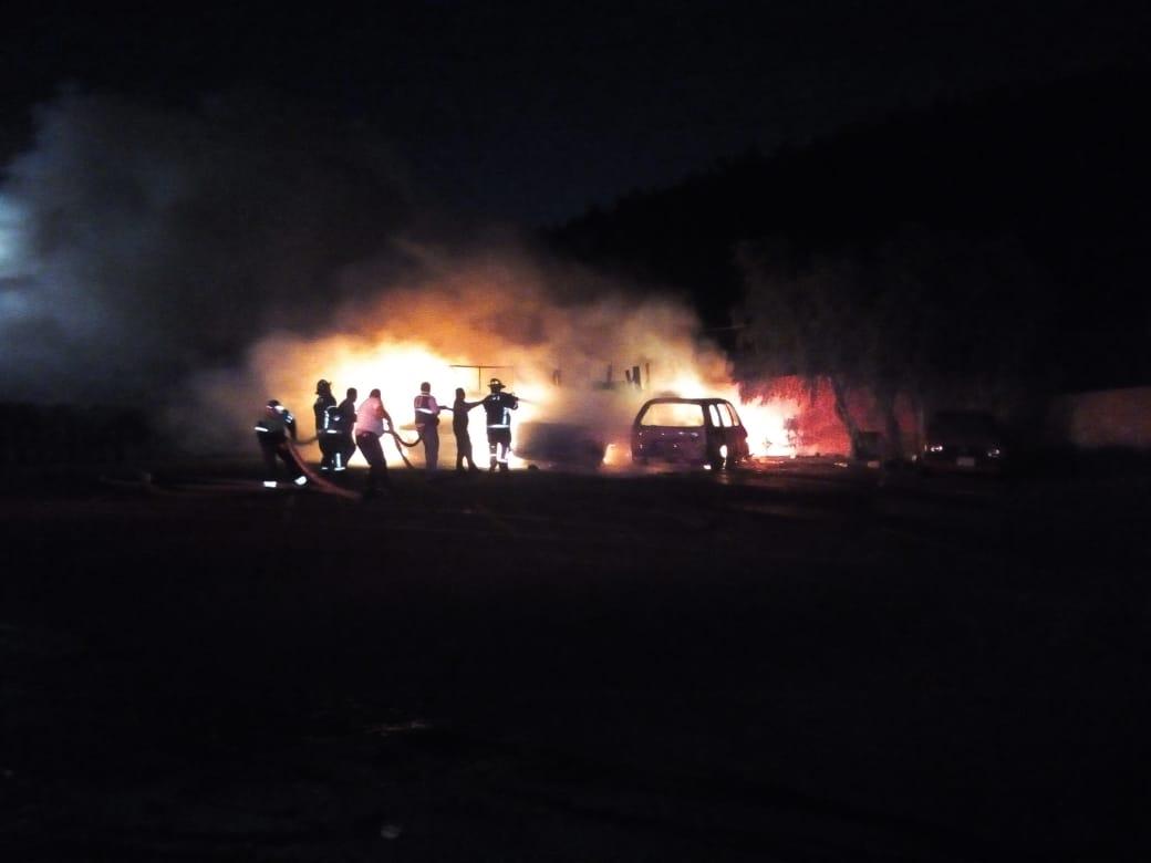 SSC implementa Dispositivo de Seguridad en apoyo a cuatro vehículos incendiados en GAM