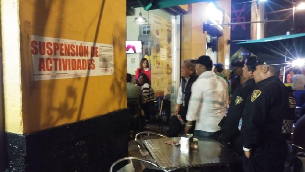 Suspenden actividades de cinco negocios en la Alcaldía Cuauhtémoc