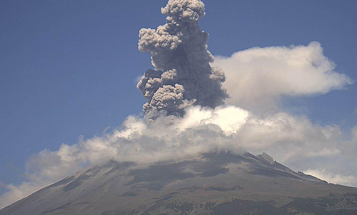 Emite SGIRPC recomendaciones por actividad del Volcán Popocatépetl